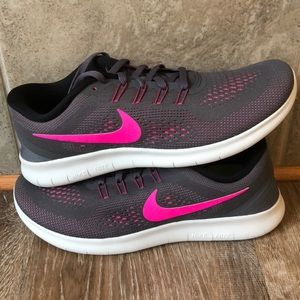 Nike Shoes - Nike Free RN Women's NEW 2016 Grey /Pink